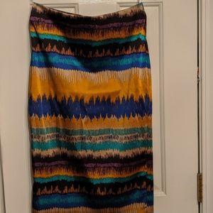 Silky Multi colored skirt